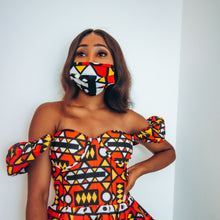 Load image into Gallery viewer, Wunmi African Print Reusable Face Mask