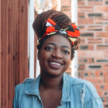 Load image into Gallery viewer, Wunmi African Print Bow Headband