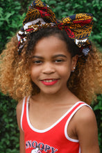 Load image into Gallery viewer, Teju African Print Ankara Girls Bow Headband
