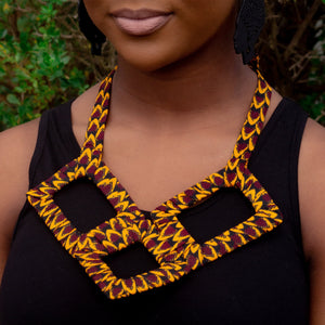 Vero African Print Necklace