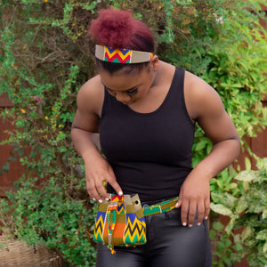 Kente Mini Bucket Bag