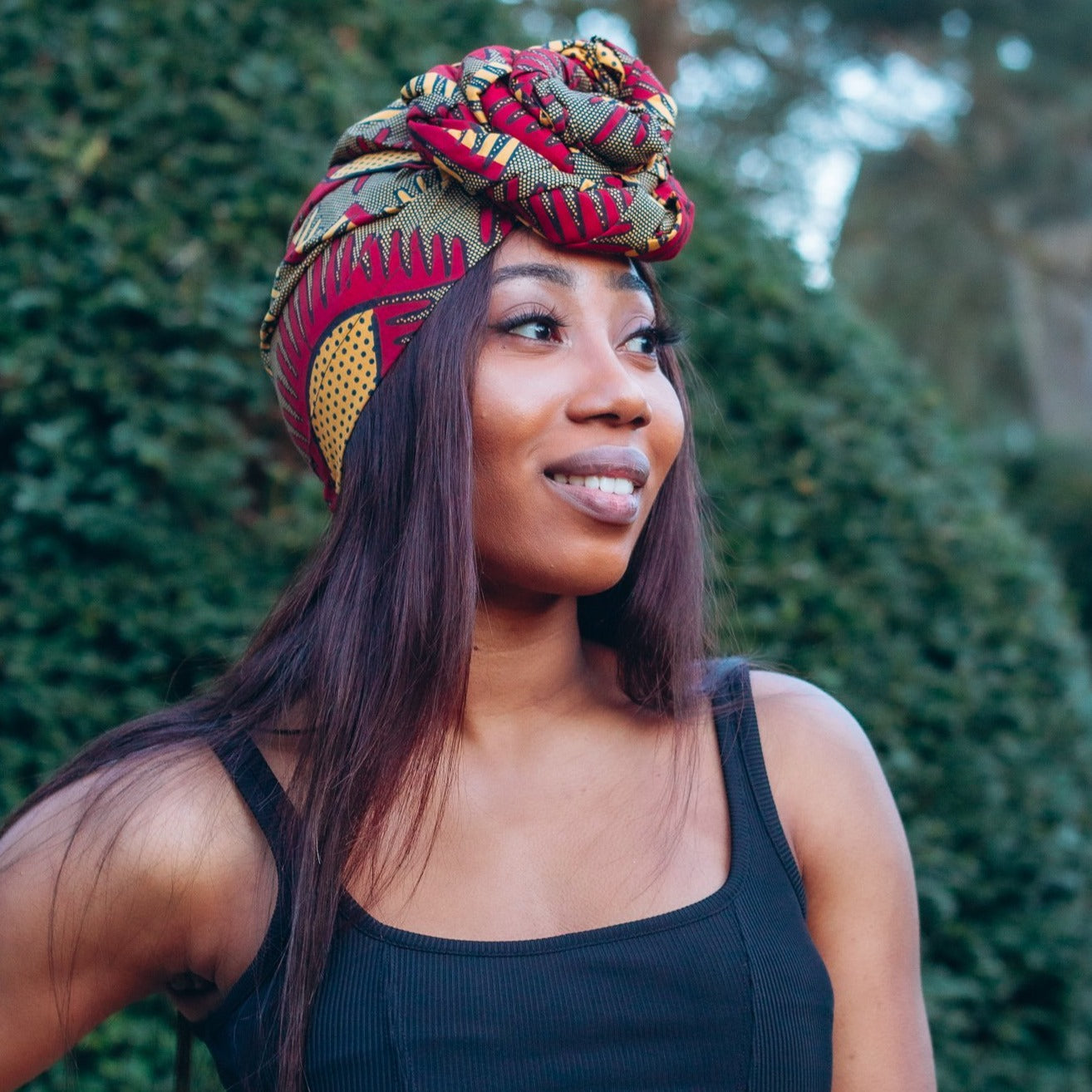 Nala Pre-tied African Print Turban Head Wrap