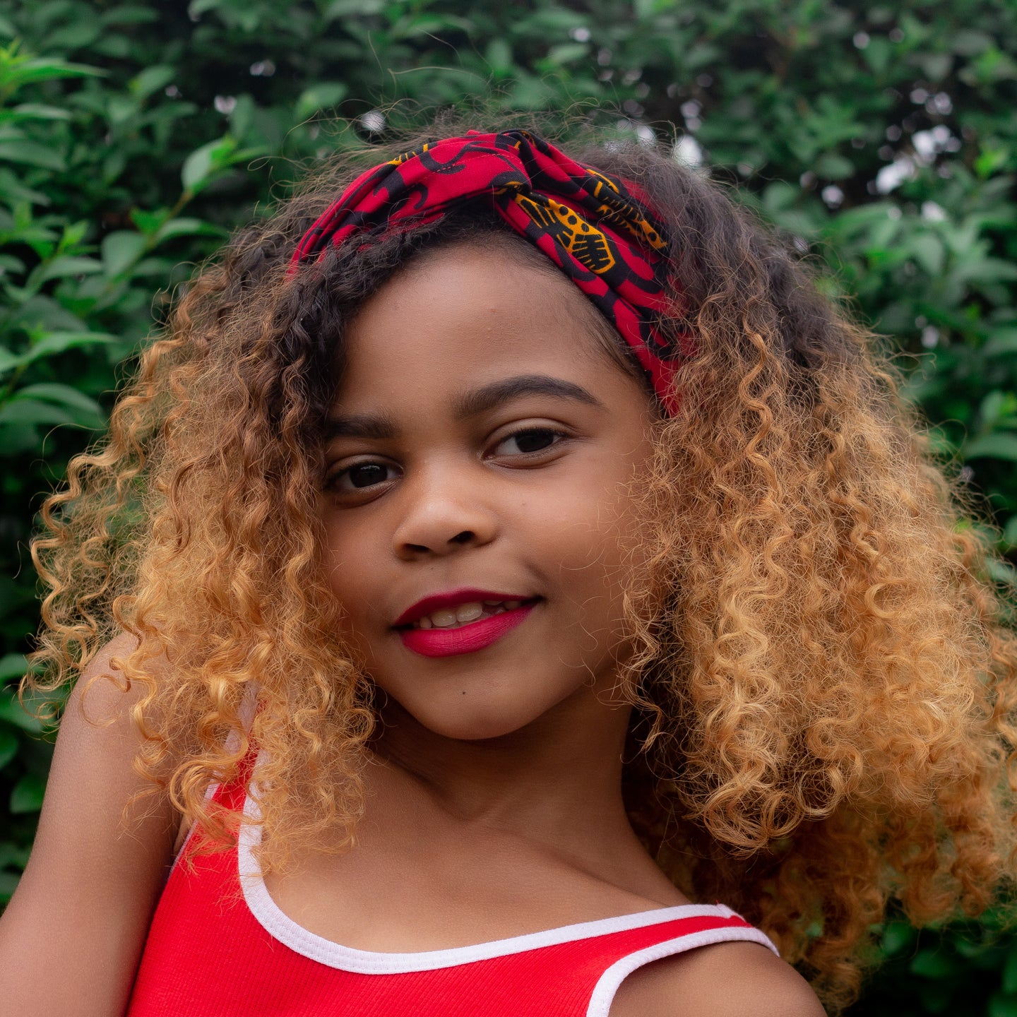Ana African Print Ankara Girls Head Wrap