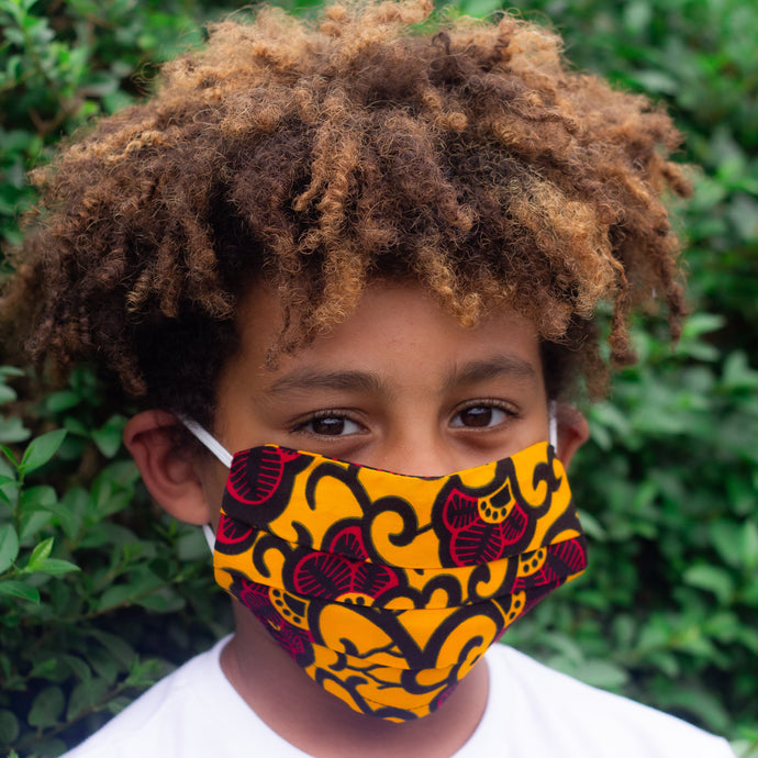 Kids Ada African Print Reusable Face Mask