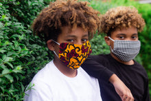 Load image into Gallery viewer, Kids Ada African Print Reusable Face Mask