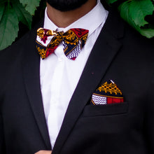 Load image into Gallery viewer, Teju Pocket Square & Bow Tie Set
