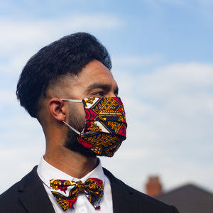 African Print Teju Reusable Face Mask
