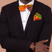 Load image into Gallery viewer, Kente Pocket Square & Bow Tie Set