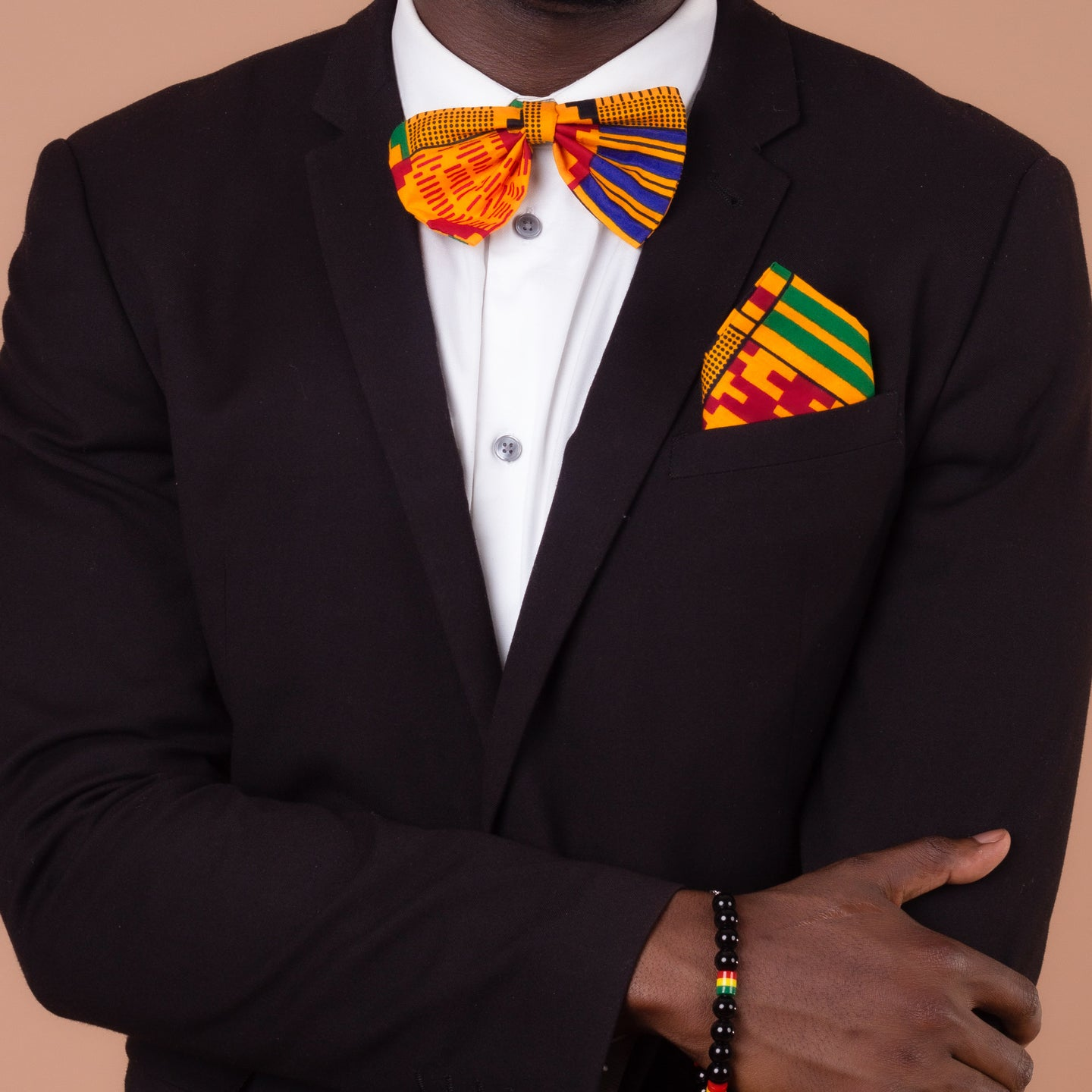 Kente Pocket Square & Bow Tie Set