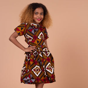 Teju kids African Print Skater Dress