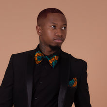 Load image into Gallery viewer, Adetayo Pocket Square & Bow Tie Set