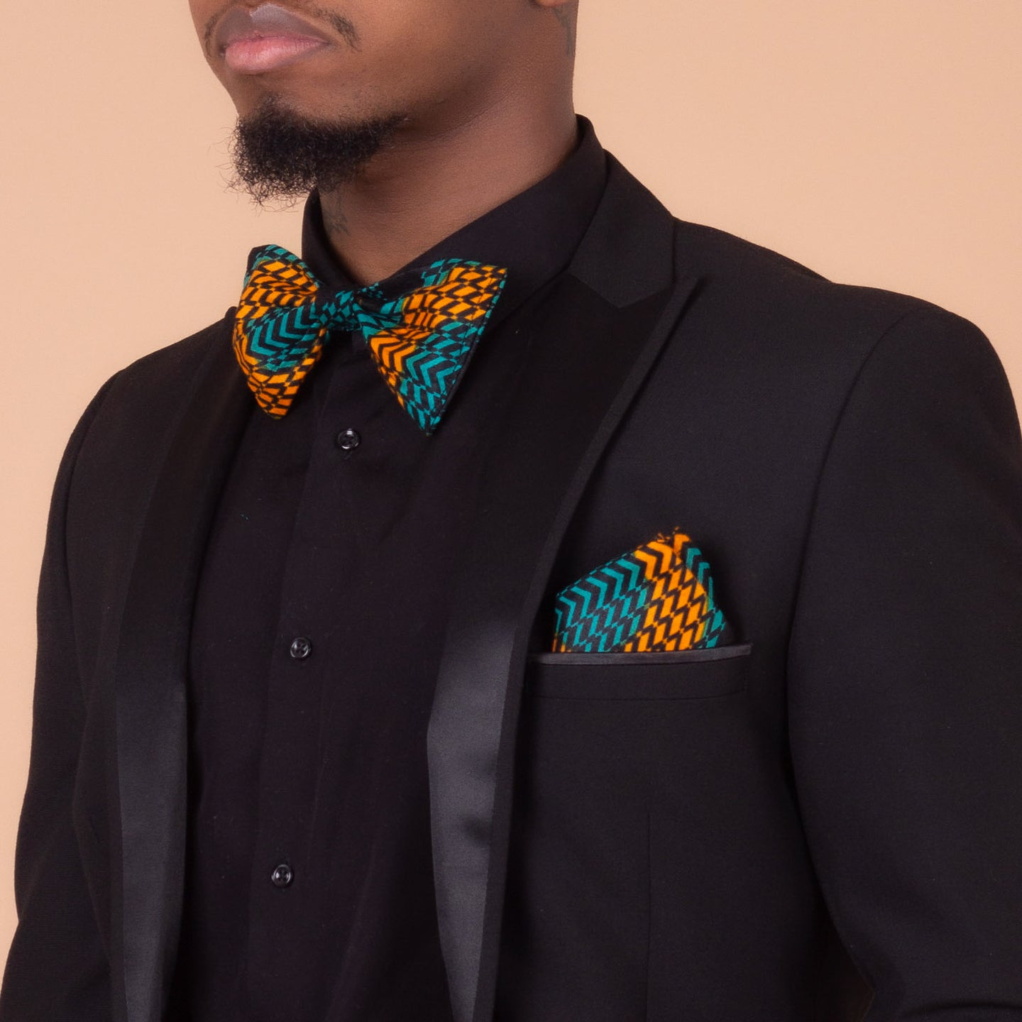 Adetayo Pocket Square & Bow Tie Set