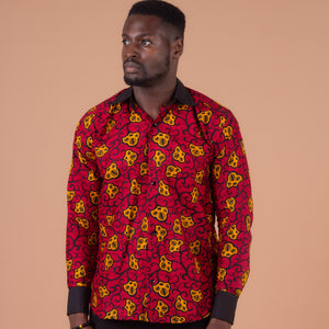 Ana African Print Long Sleeved Shirt