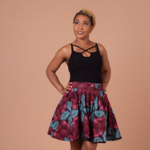 Load image into Gallery viewer, Ore African Print Skater Skirt