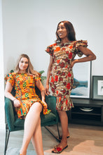 Load image into Gallery viewer, Aryee Kente Fit & Flare Dress