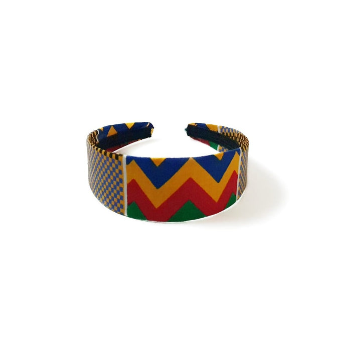 Kente wrapped alice headband