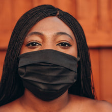 Load image into Gallery viewer, Matte Black Reusable Face Mask