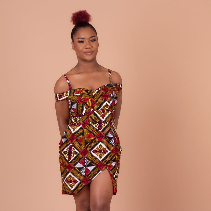 Teju Ankara Wax Print Wrap Dress