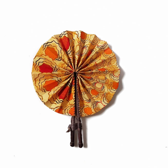 Adoley African Print Fan