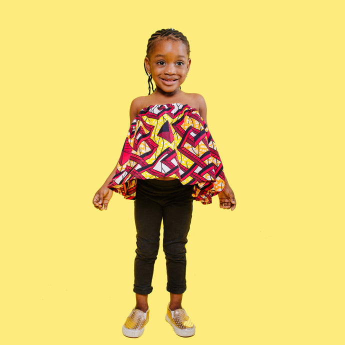 Mara Off-Shoulder Swing Top (Kids)