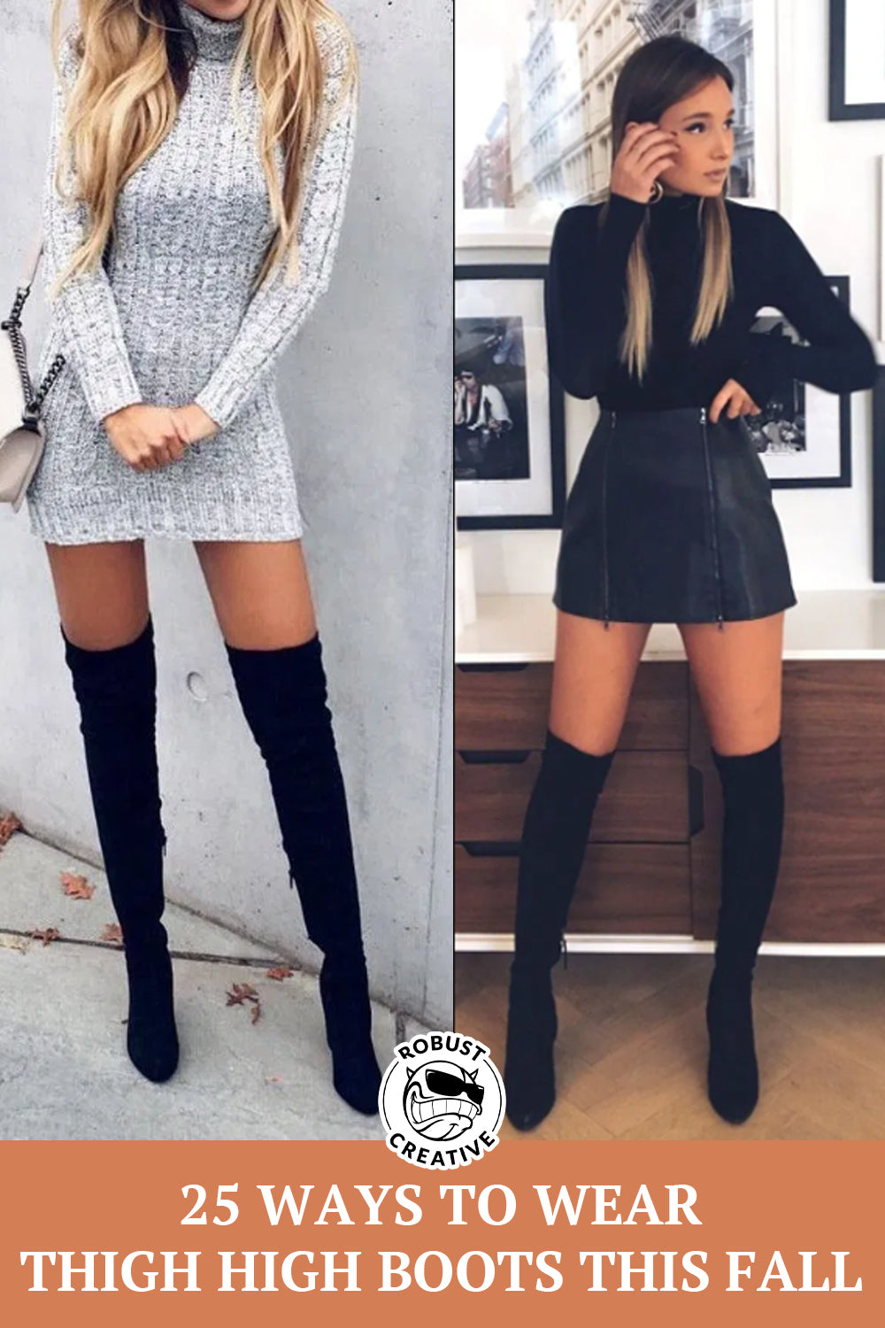 dress to go with knee high boots