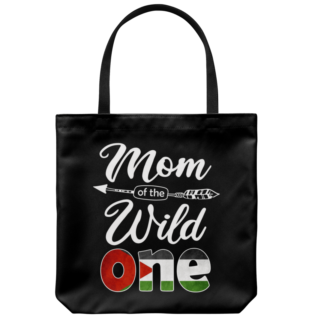 RobustCreative-Palestinian Mom of the Wild One Birthday Palestine Flag Tote Bag Gift Idea