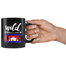 Load image into Gallery viewer, RobustCreative-Cambodia Wild One Birthday Outfit 1 Cambodian Flag Black 11oz Mug Gift Idea