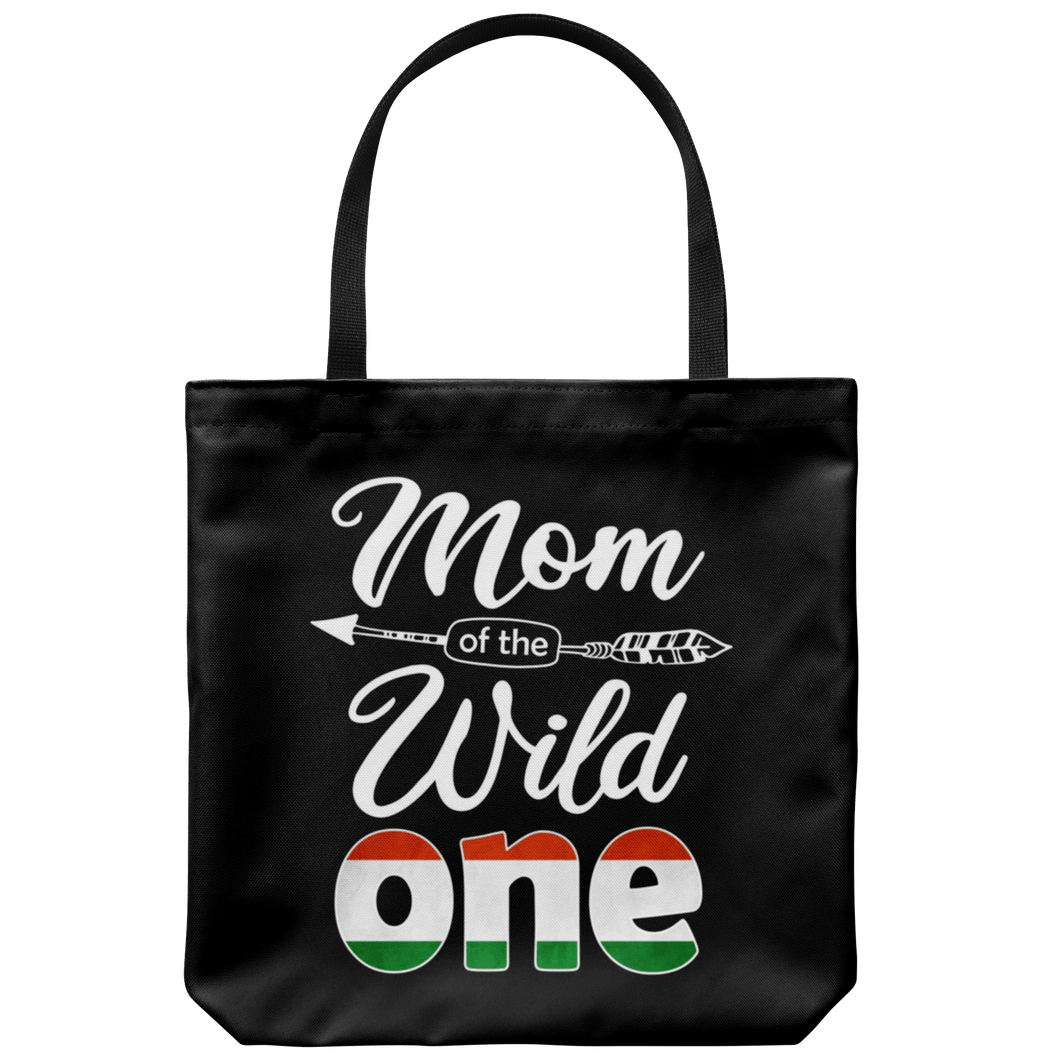 RobustCreative-Hungarian Mom of the Wild One Birthday Hungary Flag Tote Bag Gift Idea