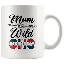 Load image into Gallery viewer, RobustCreative-Dominican Mom of the Wild One Birthday Dominican Republic Flag White 11oz Mug Gift Idea