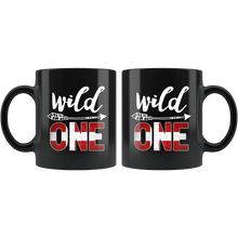 Load image into Gallery viewer, RobustCreative-Denmark Wild One Birthday Outfit 1 Danish Flag Black 11oz Mug Gift Idea