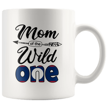 Load image into Gallery viewer, RobustCreative-Lao Mom of the Wild One Birthday Laos Flag White 11oz Mug Gift Idea