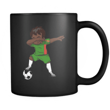 Load image into Gallery viewer, RobustCreative-Dabbing Soccer Boy Zambia Zambian Lusaka Gifts National Soccer Tournament Game 11oz Black Coffee Mug ~ Both Sides Printed