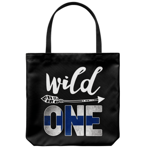 RobustCreative-Finland Wild One Birthday Outfit 1 Finn Flag Tote Bag Gift Idea