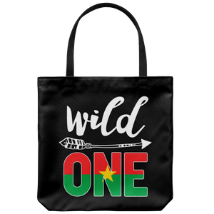 RobustCreative-Burkina Faso Wild One Birthday Outfit 1 Burkinabe Flag Tote Bag Gift Idea