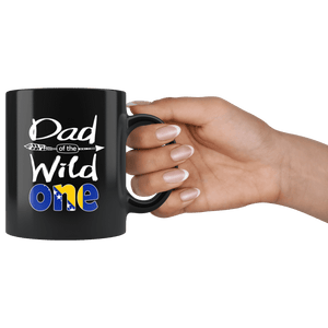 RobustCreative-Bosnian Herzegovinian Dad of the Wild One Birthday Bosnia & Herzegovina Flag Black 11oz Mug Gift Idea