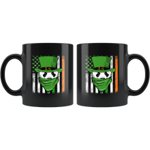 Load image into Gallery viewer, RobustCreative-Panda American Irish Flag St Patricks Day Shamrock - 11oz Black Mug lucky paddys pattys day Gift Idea