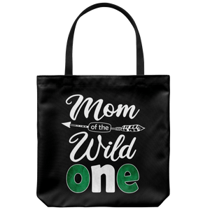 RobustCreative-Nigerian Mom of the Wild One Birthday Nigeria Flag Tote Bag Gift Idea