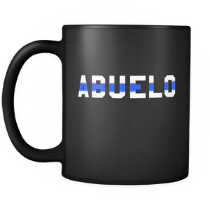 RobustCreative-Police Officer Abuelo patriotic Trooper Cop Thin Blue Line  Law Enforcement Officer 11oz Black Coffee Mug ~ Both Sides Printed