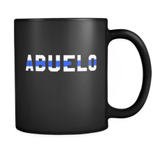Load image into Gallery viewer, RobustCreative-Police Officer Abuelo patriotic Trooper Cop Thin Blue Line  Law Enforcement Officer 11oz Black Coffee Mug ~ Both Sides Printed