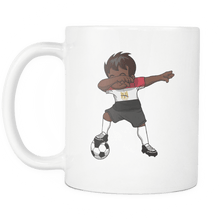 Load image into Gallery viewer, RobustCreative-Dabbing Soccer Boy Egypt Egyptian Cairo Gifts National Soccer Tournament Game 11oz White Coffee Mug ~ Both Sides Printed