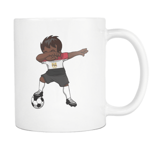 RobustCreative-Dabbing Soccer Boy Egypt Egyptian Cairo Gifts National Soccer Tournament Game 11oz White Coffee Mug ~ Both Sides Printed