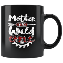 Load image into Gallery viewer, RobustCreative-Mother of the Wild One Lumberjack Woodworker Sawdust Glitter - 11oz Black Mug Sawdust Glitter is mans glitter Gift Idea