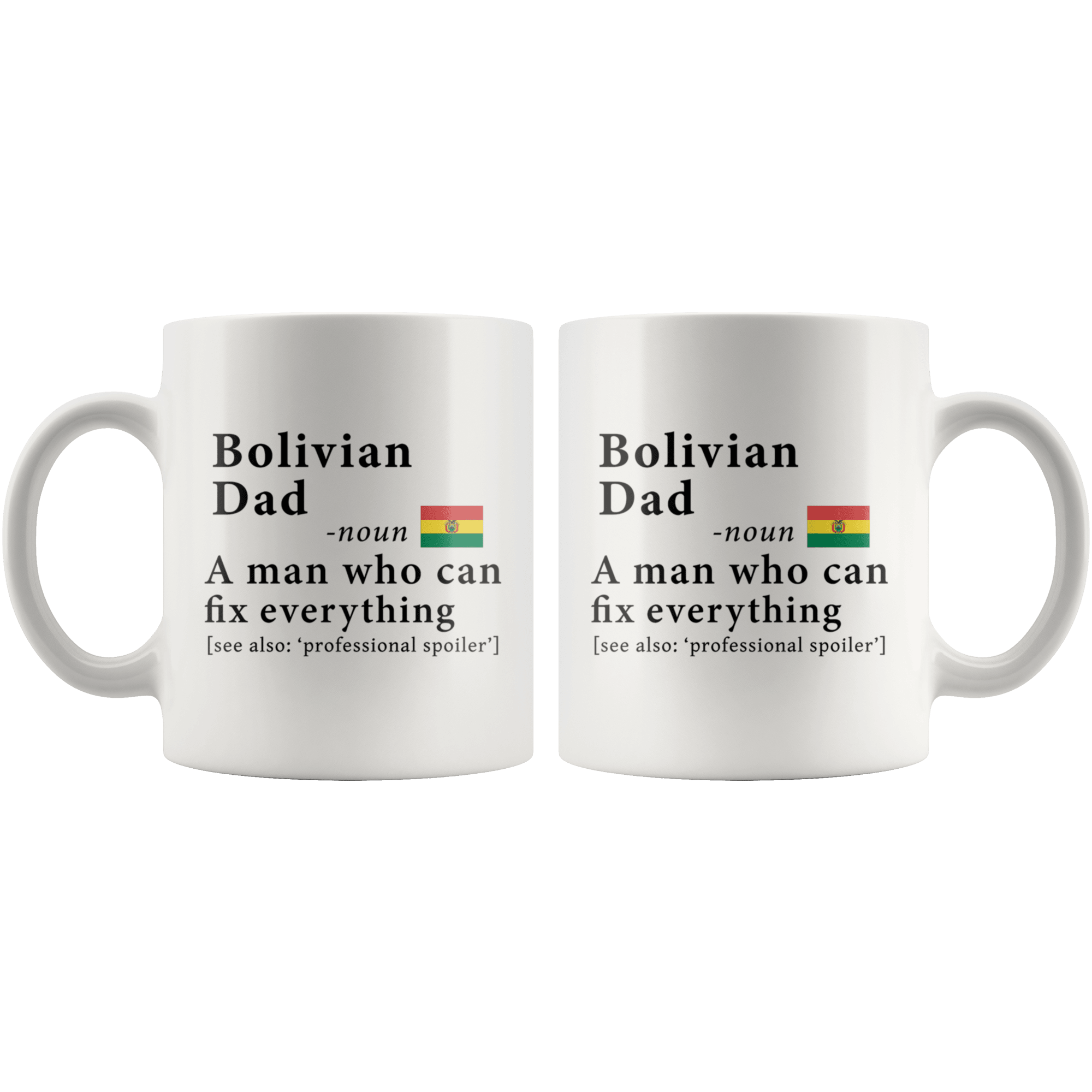 ... RobustCreative-Bolivian Dad Definition Bolivia Flag Fathers Day - 11oz White Mug family reunion gifts