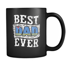 Load image into Gallery viewer, RobustCreative-Best Dad Ever Aruba Flag - Fathers Day Gifts - Family Gift Gift From Kids - 11oz Black Funny Coffee Mug Women Men Friends Gift ~ Both Sides Printed