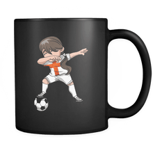 Load image into Gallery viewer, RobustCreative-English Dabbing Soccer Girl - Soccer Pride - England Flag Gift England Football Gift - 11oz Black Funny Coffee Mug Women Men Friends Gift ~ Both Sides Printed