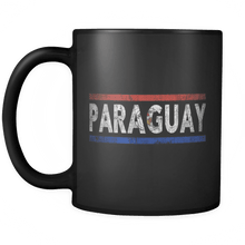 Load image into Gallery viewer, RobustCreative-Retro Vintage Flag Paraguayan Paraguay 11oz Black Coffee Mug ~ Both Sides Printed