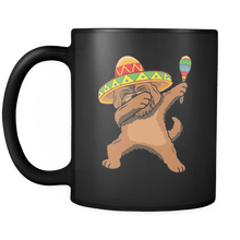 Load image into Gallery viewer, RobustCreative-Dabbing Goldendoodle Dog in Sombrero - Cinco De Mayo Mexican Fiesta - Dab Dance Mexico Party - 11oz Black Funny Coffee Mug Women Men Friends Gift ~ Both Sides Printed