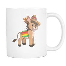 Load image into Gallery viewer, RobustCreative-Mexican Donkey - Cinco De Mayo Mexican Fiesta - No Siesta Mexico Party - 11oz White Funny Coffee Mug Women Men Friends Gift ~ Both Sides Printed
