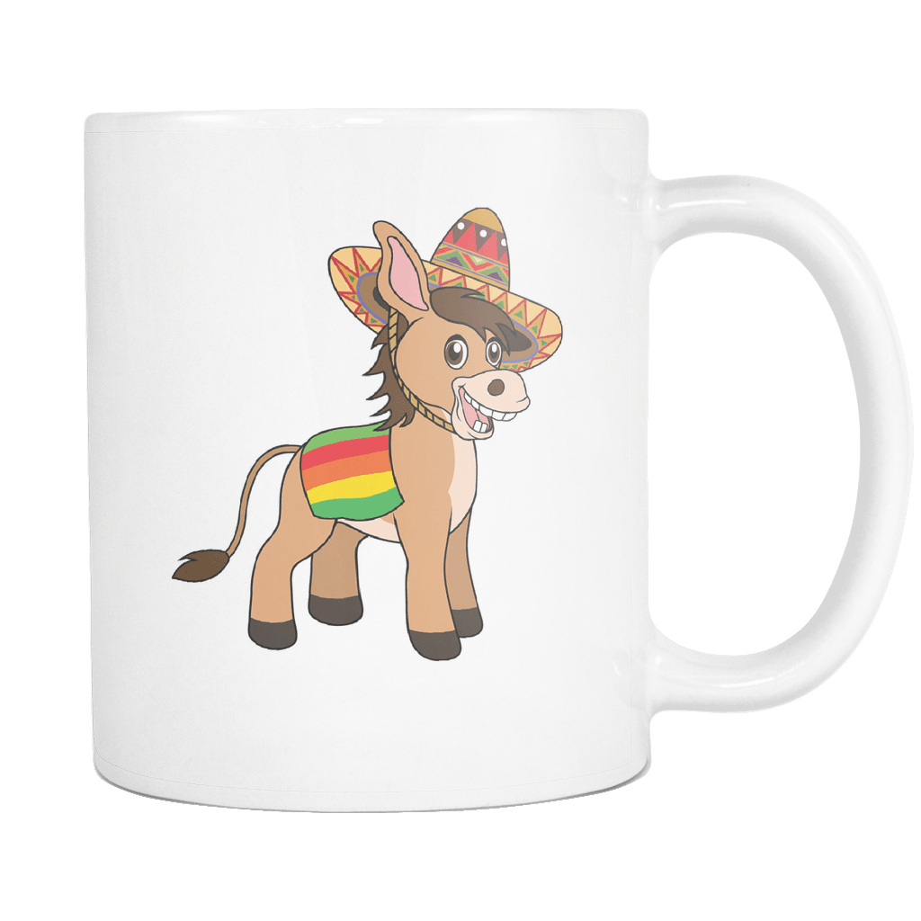 RobustCreative-Mexican Donkey - Cinco De Mayo Mexican Fiesta - No Siesta Mexico Party - 11oz White Funny Coffee Mug Women Men Friends Gift ~ Both Sides Printed