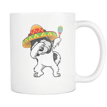 Load image into Gallery viewer, RobustCreative-Dabbing Alaskan Malamute Dog in Sombrero - Cinco De Mayo Mexican Fiesta - Dab Dance Mexico Party - 11oz White Funny Coffee Mug Women Men Friends Gift ~ Both Sides Printed